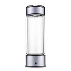 450ml idrogeno Generatore di acqua H2 Rich Hydrogen Water Bottle Ionizzatore USB ricaricabile Electrolysis Hydrogen 1300PPB