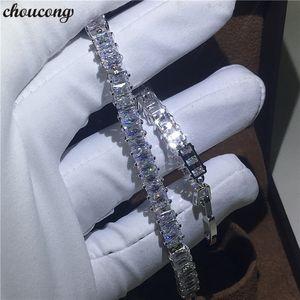 Vecalon Classic Armband Weißgold Füllt T Form Diamanten cz Engagement Hochzeit Armbänder für Frauen Hand Jewerly