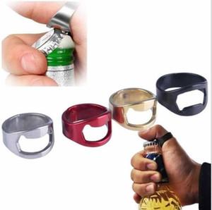 Творческий нержавеющей стали кольцо открывалка палец кольцо пива открывалка для бутылок прохладный бар партии кухонные инструменты ментальная крышка открывалки разноцветные