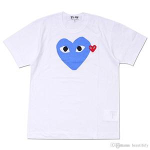 Moda Stile Uomo Donna COMMES Tshirt Con Cotone Manica Corta Des OFF Vacanza Ricamo Cuore Emoji GARCONS Bianco CDG Abbigliamento Economico