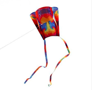 Neue Bunte Parafoil Kite mit 200 cm Schwänzen 30 mt Flugschnur Outdoor Soft Fly Kite Spielzeug für Kinder mädchen jungen geschenk outdoor werkzeug