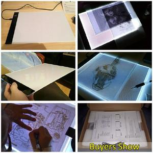 أقراص 13.15x9.13inch A4 LED الرسوم البيانية للفنان رقيق الفن استنسل رسم لوحة ضوء مربع للبحث عن المفقودين الجدول الوسادة ثلاثة على مستوى الشاشة العناية بالعيون
