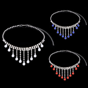 Hot Selling Bride Classic Rhinestone Crystal Tassel Necklace Spring Ring Women's Jewelry Wedding Accessories Free Shipping