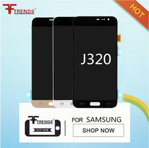 Haute Qualité Super AMOLED Un Digitizer D'écran Tactile LCD Noir Or Noir Pour Samsung Galaxy J3 2016 J320 J320F J320FN avec Outils De Réparation