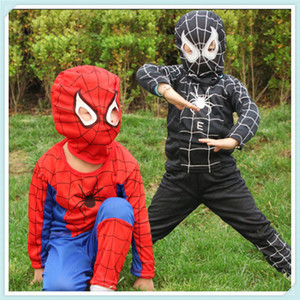 New  Cosplay Costumes Suit Spider Man Children Kids Boy Performance Clothing Sets 3 Size Halloween C144