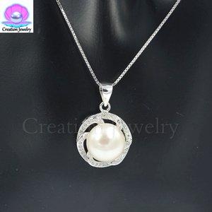 2018 модный дизайн S925 кулон ожерелье из стерлингового серебра с жемчугом для женщин / детей подарок на день рождения прекрасный дизайн