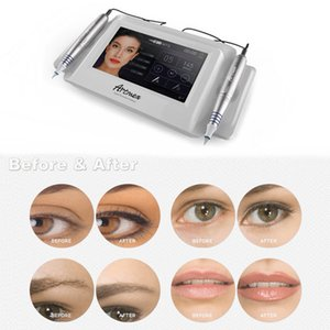 Neueste intelligente Kosmetik 2 in 1 Tattoo Permanent Make-up Ausstattung Doppel Pen digitales Mikropigment Artmex V8 DHL-freies Verschiffen
