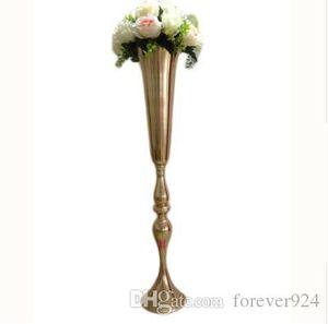 أنيقة 88cm طويل القامة زهرية معدنية زهرة الزفاف محور الذهب زهرة حامل الجدول الديكور منضدية زهرة حامل ترتيب