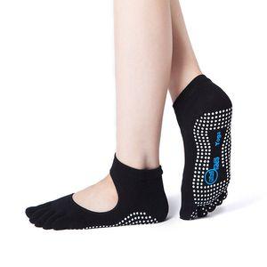 Women Yoga Backless Five Toe Anti-Slip Ankle Grip Socks Dots Pilates Fitness Gym Socks Ladies Sports socks