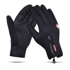 S M L XL Winter Outdoor Sports Gloves Cycling Skiing Fishing Waterproof Warm Full Finger Gloves Touch Screen Silicone Anti-slip Men Gloves