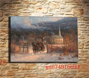 Man on Oil Painting Carriage, Canvas Canvas Home Decor HD Stampato Arte moderna Pittura su tela (Senza cornice / Incorniciato)