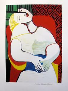Pablo Picasso Art-Portrait Handgemalte Wanddekorkunst Ölgemälde Weihnachtskollektion versandkostenfrei. Mehrere Größen / Rahmenoptionen, Rp191 #