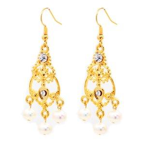 Moda charme jóias naturais brincos de pérolas de água doce brincos de ouro 14k dar a sua esposa um presente surpresa