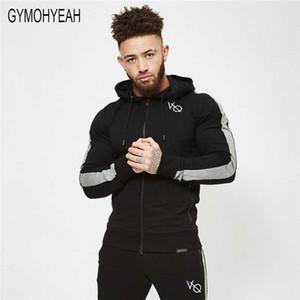 Fermuar ceket Tişörtü Vücut Geliştirme spor giyim moda hoodies kazak Toptan GYMOHYEAH 2018 Yeni Erkek spor Kapüşonlular