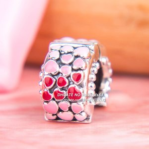 2018 Valentine Day S925 Sterling Silver Burst of Love Clip, Mixed Enamel Charm beads For Pandora Bracelets Pendant Beads & Jewelry Making