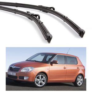 "New 2x 21 ""21"" Car Wiper Bracketless Blade Windscreen يصلح لسكودا فابيا 2007-2014 08 09 10 11 12 13"