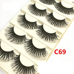 Red Cherry 5 Pairs False Eyelashes 26 Styles Black Cross Messy Natural Long Thick Fake Eye lashes Beauty Makeup High Quality