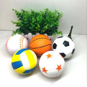 Futebol Futebol Softball Squishy Brinquedos Basquete Basquete Voleibol Lento Rising Jumbo Squeeze Encantos Do Telefone Creme De Pão Stress Reliever Presente