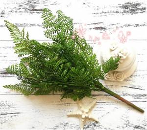 리얼 터치 느낌 고사리 잎 낱단 31cm 길이 인공 꽃 녹지 상록수 공장 for Wedding Centerpieces Decorative Greenery
