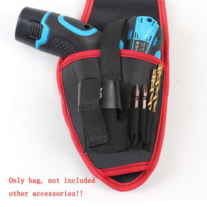 Portable Cordless Drill Holder Drill Cordless Screwdriver Waist Power Tool Bag 15*26cm