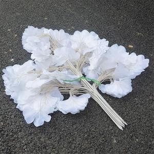 Falsa rama de Ginkgo (5 tallos / pieza) Simulación Ginkgo Biloba Verdor Planta para bodas Casa Escaparate Decorativo Plantas artificiales