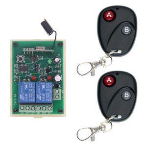 DC 12V 24V 2 CH 2CH RF Wireless Remote Control Switch System, 2X передатчики + приемник, 315/433 МГц, мгновенный