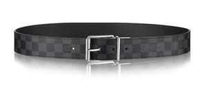 DAMIER PRINT 40MM REVERSIBLE M9156Q Cinturón reversible Nuevo Official Men Belt With Box