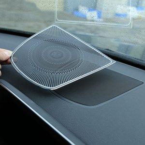 Atacado 1 pc alumínio projeto burmester dashboard speaker covertrim adesivo de carro para b5 x5 f15 x6 f16 acessórios do carro 2014-up