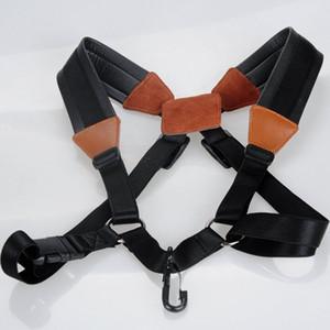 Alça de pescoço de saxofone com confortável Soft-acolchoado em três tamanho ajustável Harness Belt e gancho de Metal para Tenor Alto Sax Clarinets Oboes