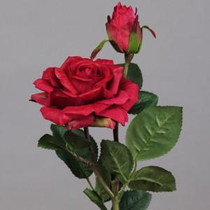 Декоративные 6 шт. / Лот искусственные цветы Real Touch Flower Rose 2 Heads Peony Декоративные цветы Свадьба Букет