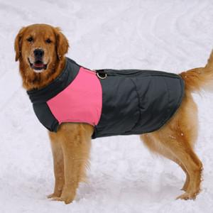 Abbigliamento Eco-friendly del cane per i grandi del rivestimento del cappotto di inverno del cane Big Dogs Vest Pet Abbigliamento Winterproof Xxl -7xl Rosa colori blu Roupa Cachorro