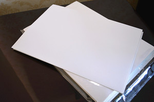 50pcs A4 em branco papel brilhante adesivo autocolante Papel Fit Inkjet Printer