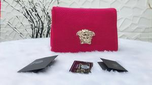 2018 Frauen Mode Großhandel Rindsleder Caviar Top Qualität Echtes Leder Diamant Kosmetiktasche Kette Handtasche Einzelner Schulter Umhängetasche