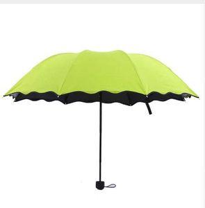 New Simple Fashion Women Umbrella Anti-vento Protezione solare Magic Flower Dome Ultravioletto a prova di sole Pieghevole Ombrelli JSX