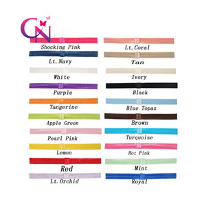 """5 8"""" High Quality Solid FOE Shimmery Headwear for Baby Girls Bow Elastic Headband Hair Accessories 44 Colors"""