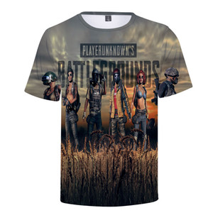 Aikooki 2018 Fashion Game PUBG 3D t shirt Men women O Neck 3D Print Playerunknown's Battlegrounds PUBG Men's t shirt Clothes