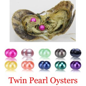 2018 DIY 6-8mm Round Variety Good Of Color Seawater Twins Pearl Oysters Individually Vacuum Pack Fashion Trend Gift Surprise Shell