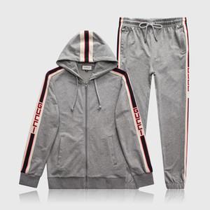 Designer Mens Carta de Treino de Luxo Ternos Casuais Hoodies + Calças Primavera Outono Zipper Kits Sports Running Treino