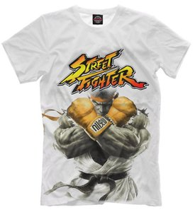 Ryu - Street Fighter Fighting Game Character 3D Printed Women men's Casual Short Sleeves T-shirts R01