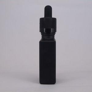 15 ㎖ 30ML 30ML 탬퍼 분명 드롭퍼 1온스 검은 액체 유리 저장 스포이드 용기와 프로스트 블랙 플랫 광장 유리 병