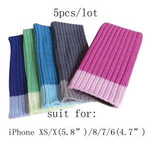"""5pcs par lot Couvre chaussettes pour iPhone XS / X (5.8 """") et iPhone 8/7/6 (4.7"""")"""