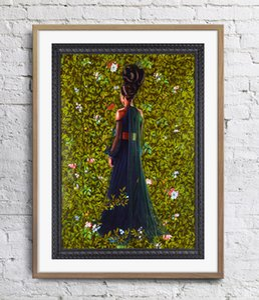 Prinzessin Victoire von Sachsen-Coburg-Gotha Kehinde Wiley Malerei Kunst Poster Wand Dekor Bilder Kunstdruck PosterUnframe 16 24 36 47 Zoll