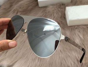Pilot Sonnenbrille 2189 Brushed Gunmetal / Spiegel Grau 59 mm Sonnenbrille occhiali da sole Mens Sonnenbrille New wth Box-Brille
