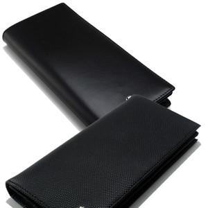 Erkek lüks moda MB hakiki deri cüzdan kartvizitlik siyah uzun kart sahibinin Nakit klip cüzdan