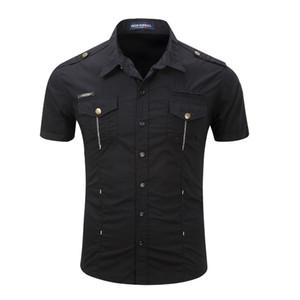 Camisa de hombre Camisa de popelina de hombre Camisa casual de moda Camisa casual de algodón de verano Camisa casual para hombre talla grande S -Xl