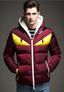 L'ultima giacca invernale da uomo in piumino d'oca con cappuccio in cotone caldo da strada, abbigliamento sportivo da strada, camicia casual da uomo