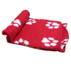 60x70cm pet dog cat bed blankets Cute Floral Pet Sleep Warm Paw Print Dog Cat Puppy Fleece Soft Blanket Beds Mat