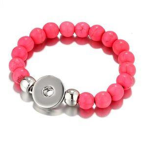 2020 hot sales 20cm NOOSA chunks snap button jewelry turquoise Noosa Bracelet Snap buttons 10pcs lot Multi color selection