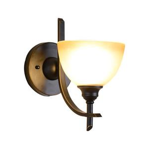 Долгосрочные производственные домашние сайты E27 Коридор Прихожая Настенные светильники Одноголовочная стеклянная стена