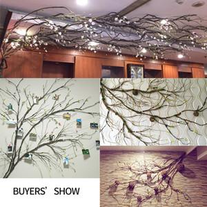 çelenk esnek plastik asma duvar asılı sahte rattan DIY Ev Düğün Garden Hotel Dekorasyon asılı çiçek duvar suni ağaç dalları